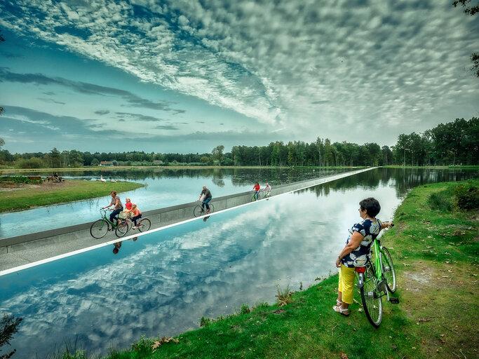 Cycling Through Water Visit Limburg