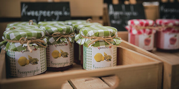 Jars of quince jelly from Sint-Truiden